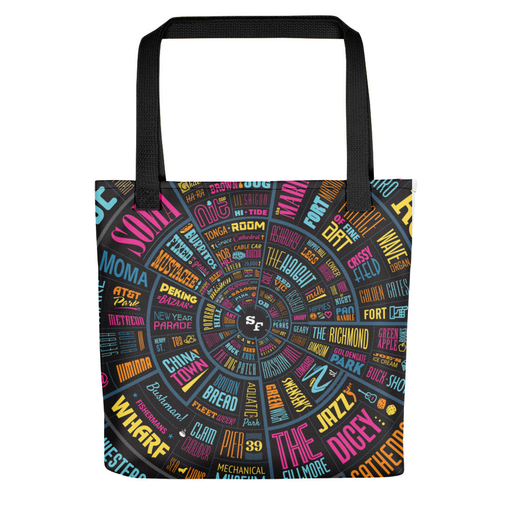 San Francisco SF type wheel - Tote bag