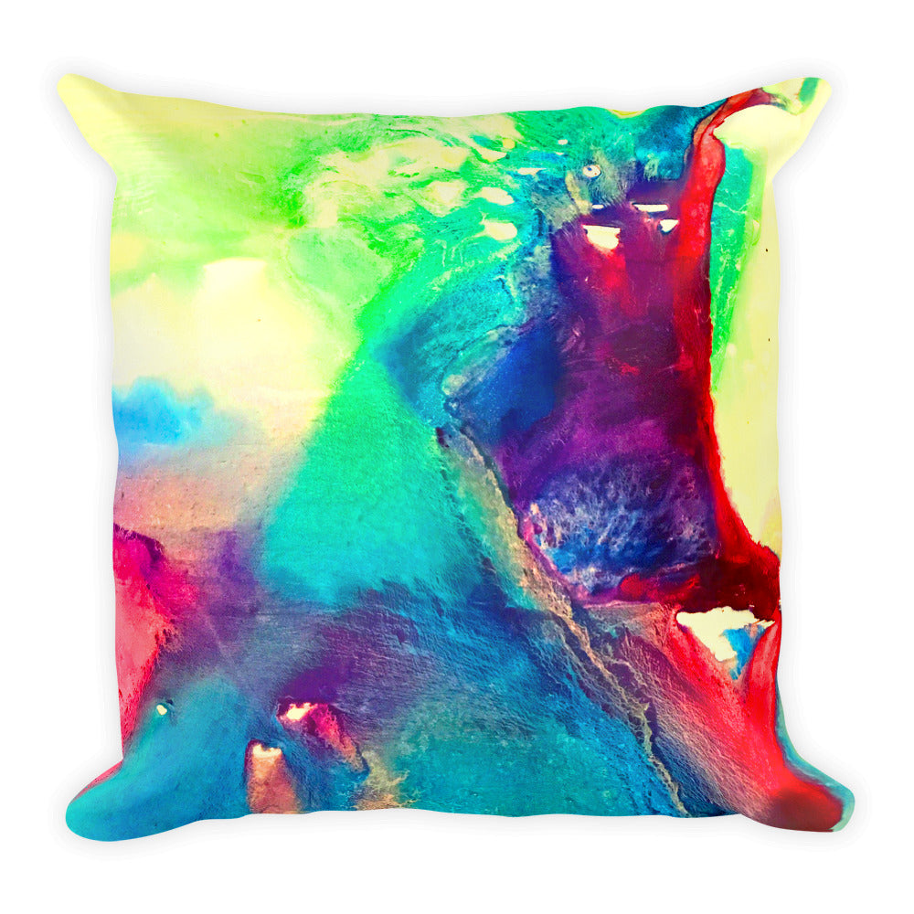 Water Color Abstract - Square Pillow