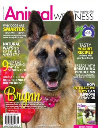 HempMy Pet has a full page feature in the June/July Issue of Animal Wellness Magazine