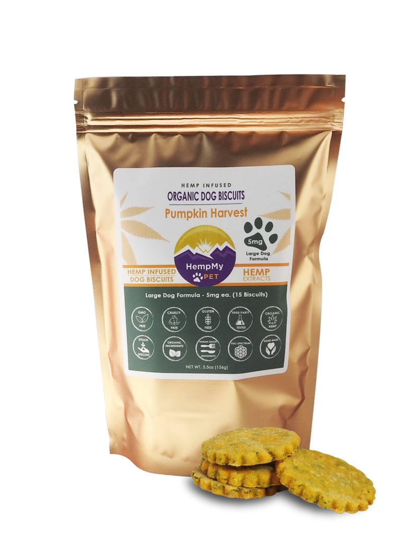 Organic Dog Biscuits Infused with Full Spectrum Hemp (CBD)
