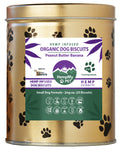 Organic Dog Biscuits - Infused with Organically Grown Colorado CBD Hemp Extract - Handmade Small Dog Formula 2 mg - Peanut Butter Banana - Limited Edition Tin