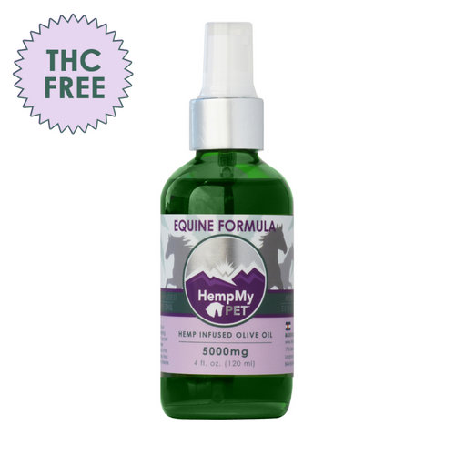 Equine - Certified Organic Olive Oil Infused with 99% Pure CBD - 5000mg (4 fl. oz. bottle) THC Free