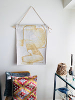 K-Apostrophe Golden Grizzly Woven Tapestry Wall Hanging