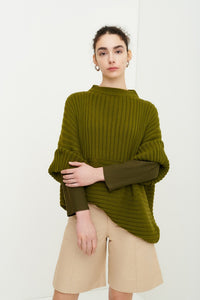 Kowtow Clothing Direction Sweater Willow Green Organic Cotton