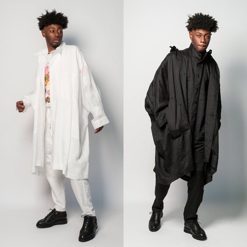 Monitaly Unisex Linen Batman Coat Oversized Jacket