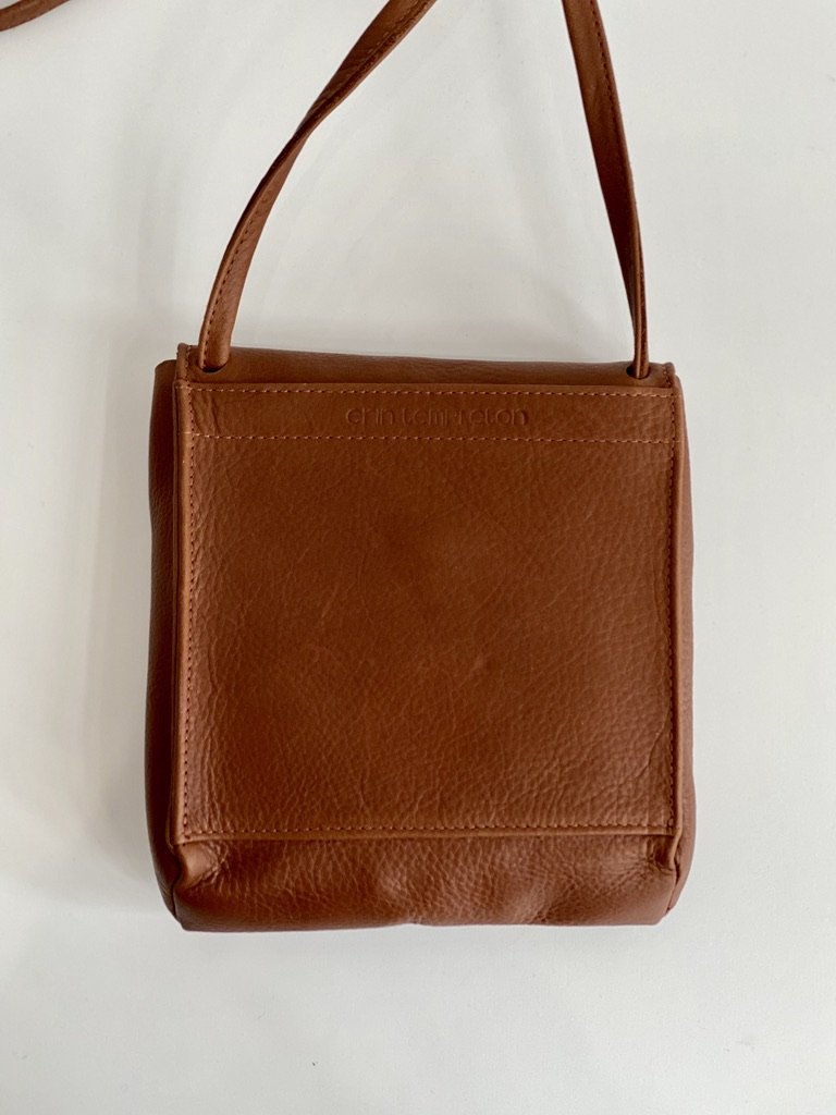 Erin Templeton Prep School Crossbody Bag Caramel Leather
