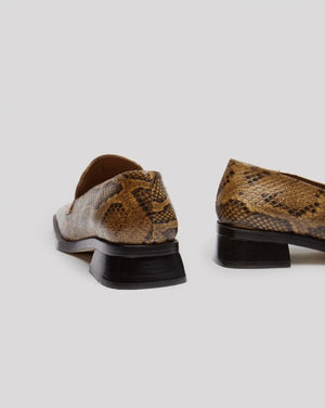 Miista Crimson Loafer Sandstone Snake Leather