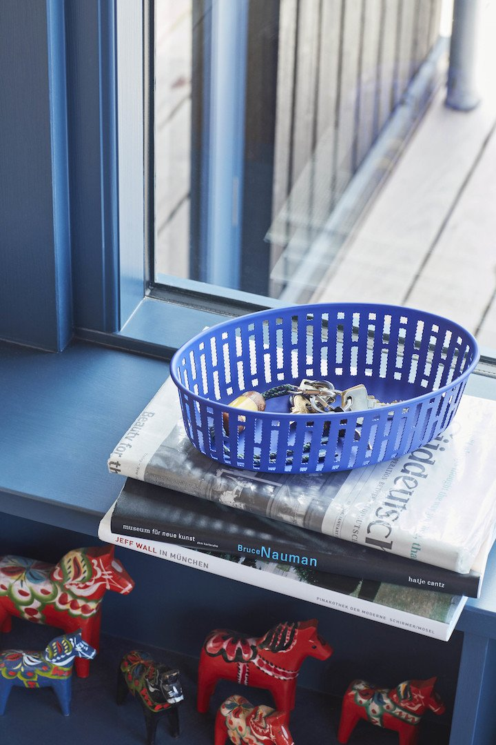 Hay Design Panier Basket Bright Blue by Inga Sempé