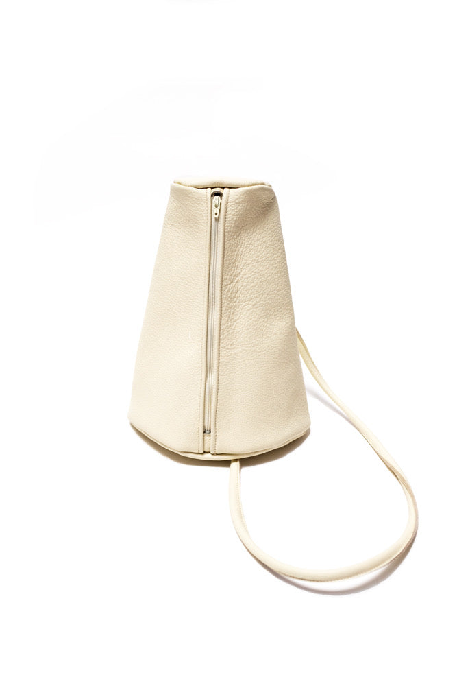 Hannah Emile Prisma Sling Bag Milk White Leather
