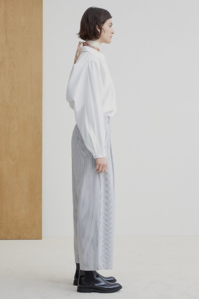 Kowtow Clothing Study Pant Stripe Organic Cotton Twill