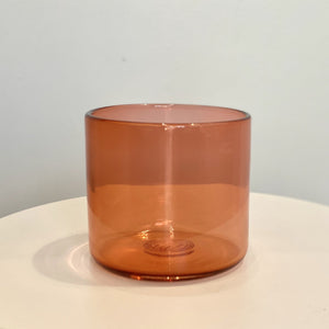 Cedric Mitchell Design Cocktail Glass Salmon Pink