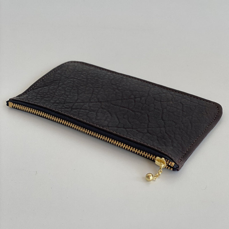 Erin Templeton Time for a Change Wallet Chocolate Brown Leather Pouch