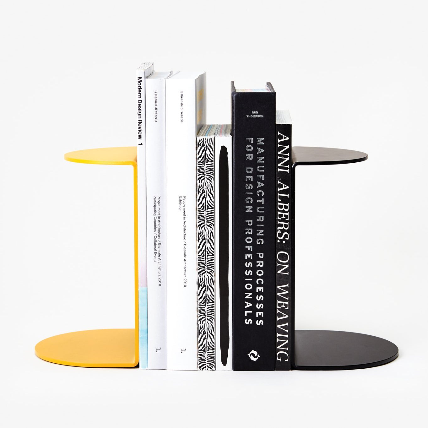 Areaware Reference Bookend Black Powder Coated Iron by Henry Julier