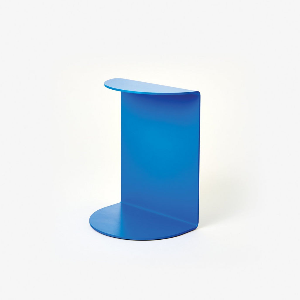 Areaware Reference Bookend Blue Powder Coated Iron by Henry Julier