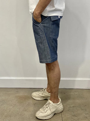 Monitaly Fatigue Shorts Chambray Cotton