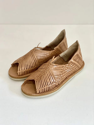 Chamula Catorce Huarache Sandal Tan Leather
