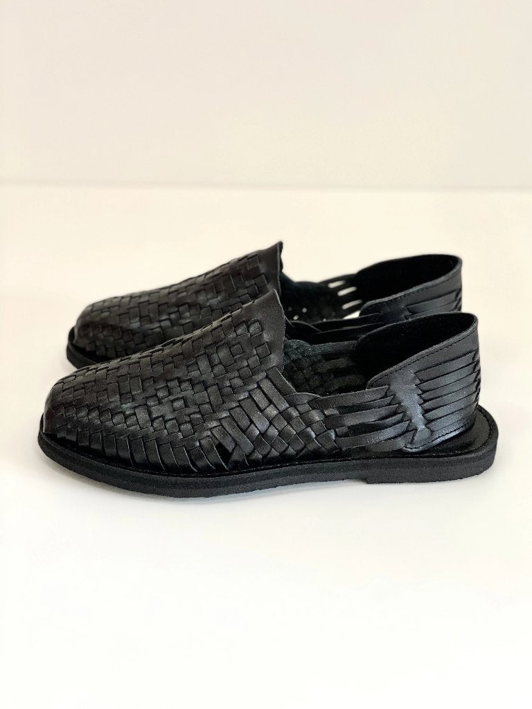 Chamula Rio Grande Huarache Sandal Black Leather