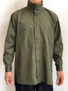 Monitaly Mens Batman Shirt Oversized Olive Cotton Mock Neck