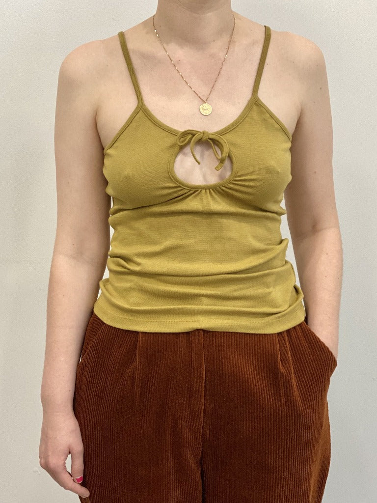 By Signe Sun Tank Top Chartreuse Organic Cotton