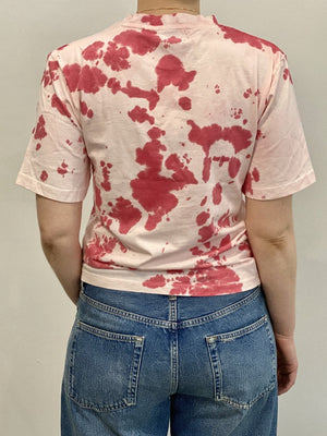 By Signe Moon Tee Red Tie Dye Organic Cotton