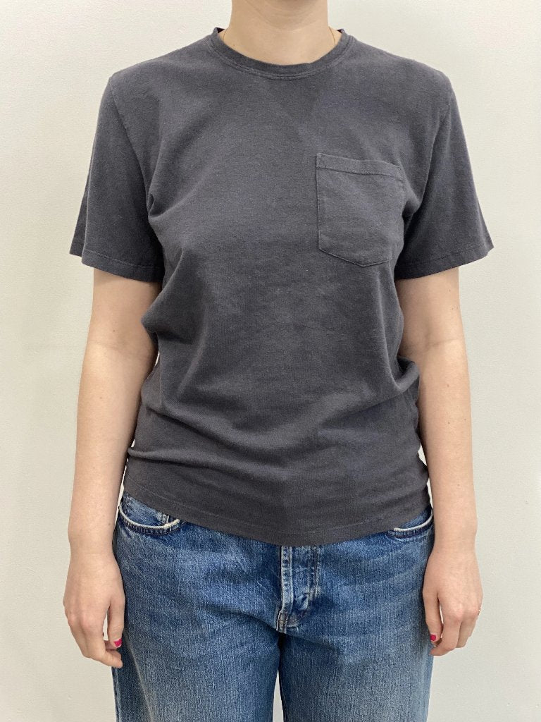 Jungmaven Unisex Baja Pocket Tee Diesel Gray Hemp Organic Cotton