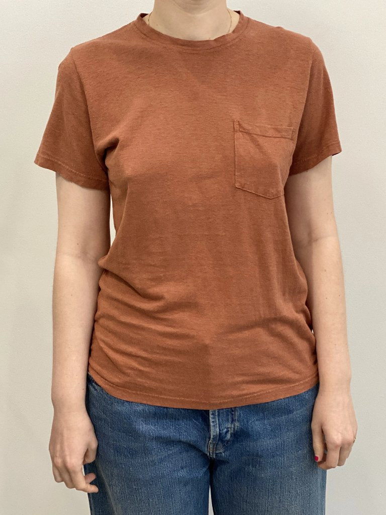 Jungmaven Unisex Jung Pocket Tee Terracotta Hemp Organic Cotton