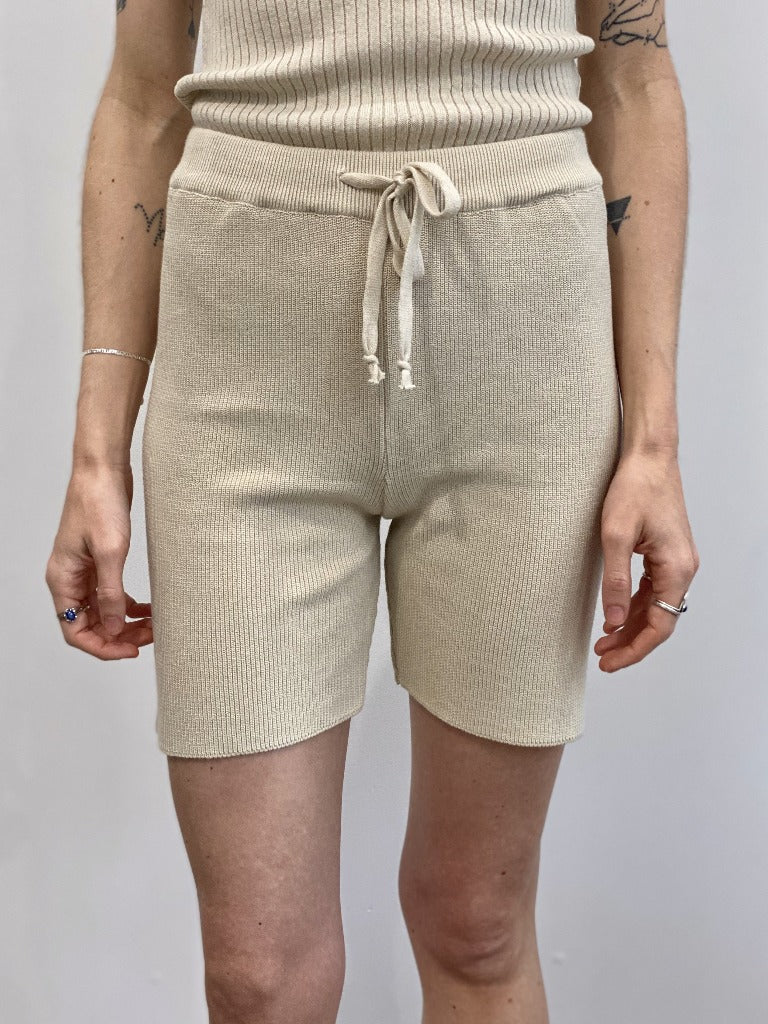 By Signe Knit Shorts Natural Organic Cotton