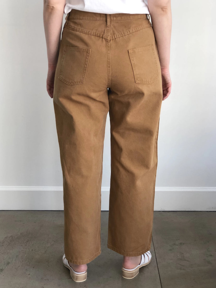 Carleen Relaxed Jeans Wheat Cotton Denim
