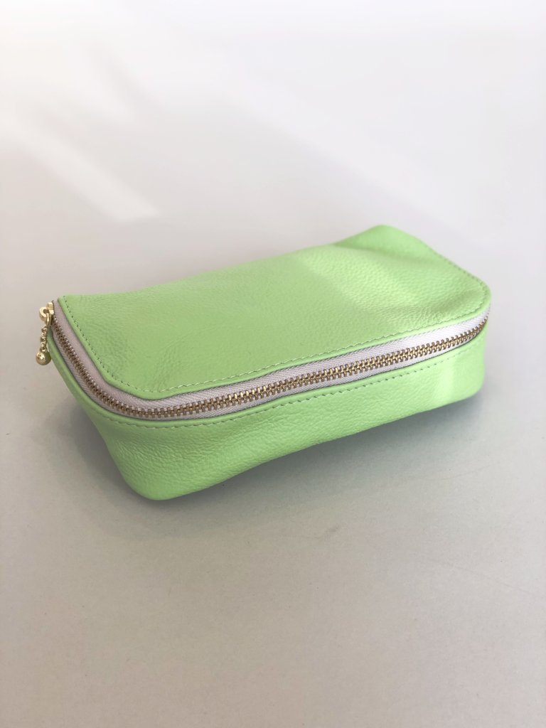 Kiss and Makeup Bag Lime