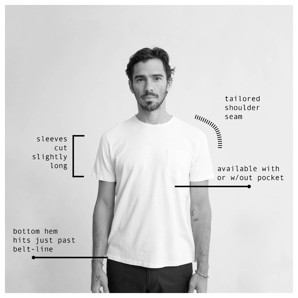 Jungmaven Unisex Baja Pocket Tee Fit Notes