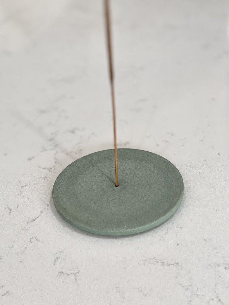 Ekua Ceramics Incense Holder Celadon Green