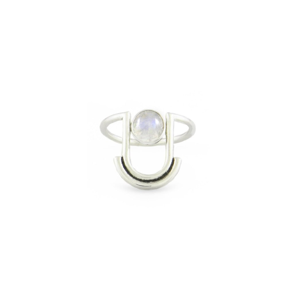 Artifacts NYC Arc Ring Sterling Silver and Moonstone