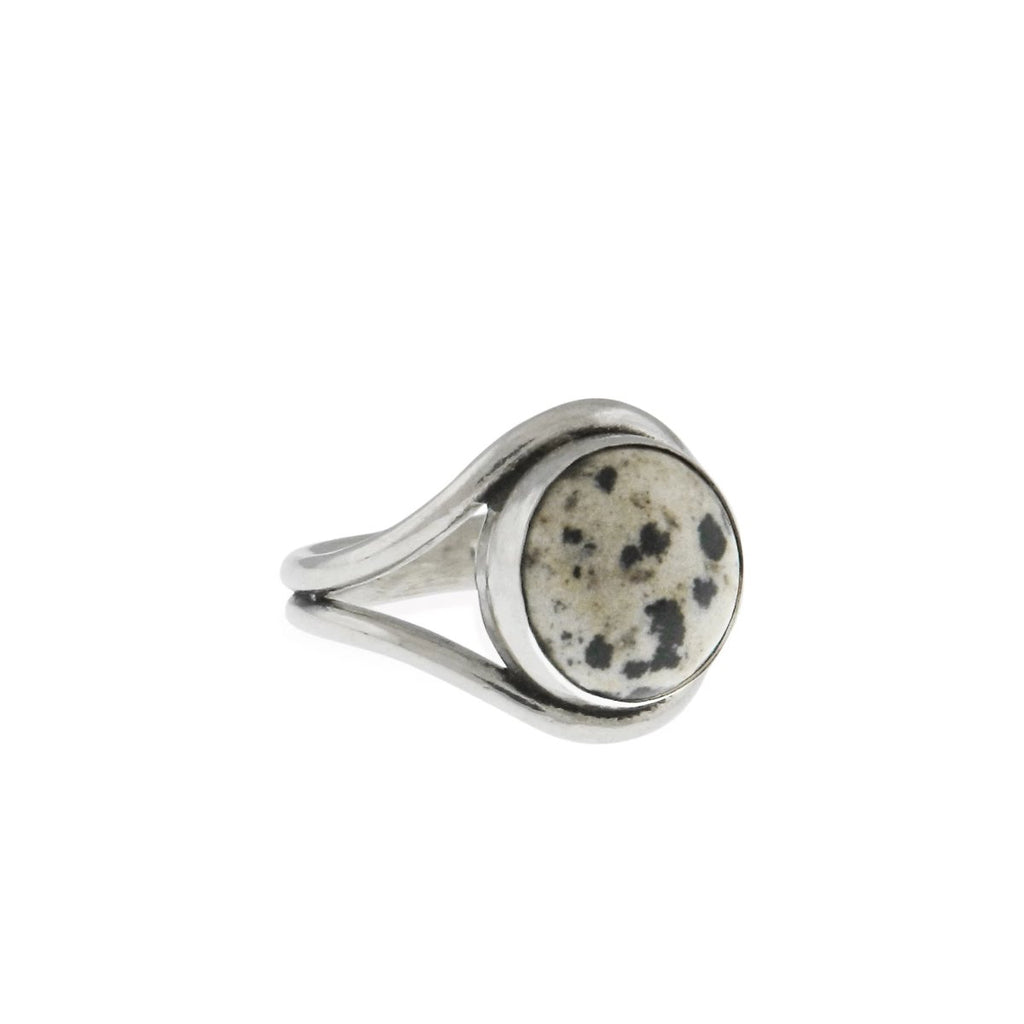 Artifacts NYC Wave Ring Sterling Silver Dalmation Jasper size 6