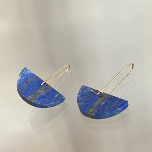 Alison Jean Cole Lapis Lazuli Single Stone Earrings