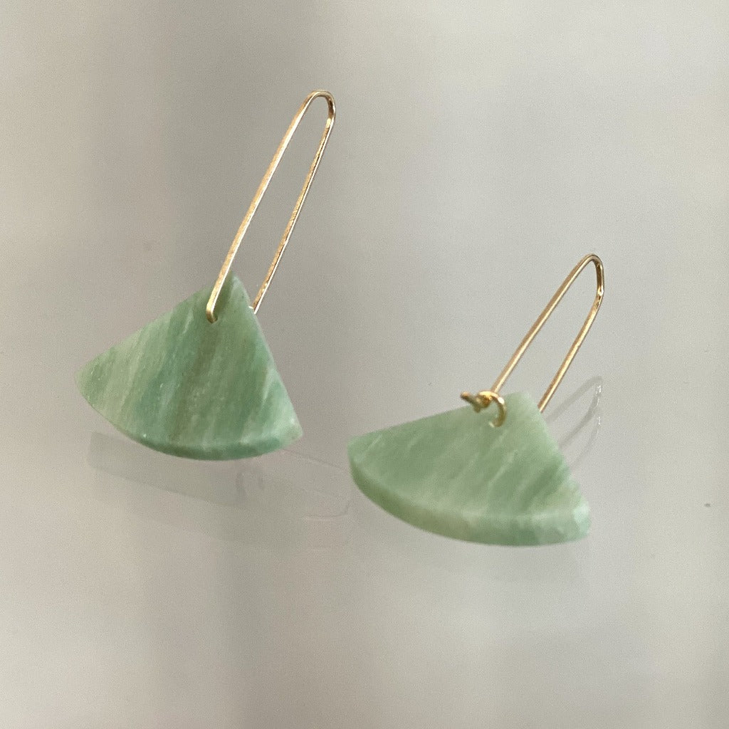 Alison Jean Cole Aventurine Single Stone Earrings