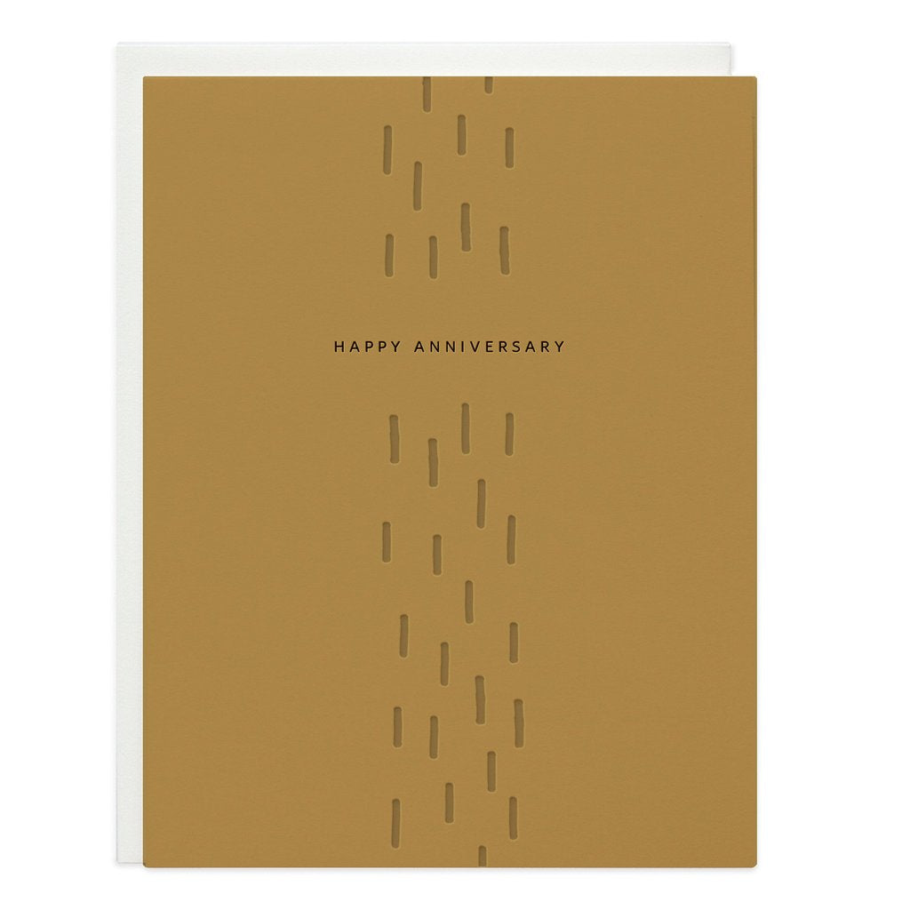 Happy Anniversary Dashes Greeting Card