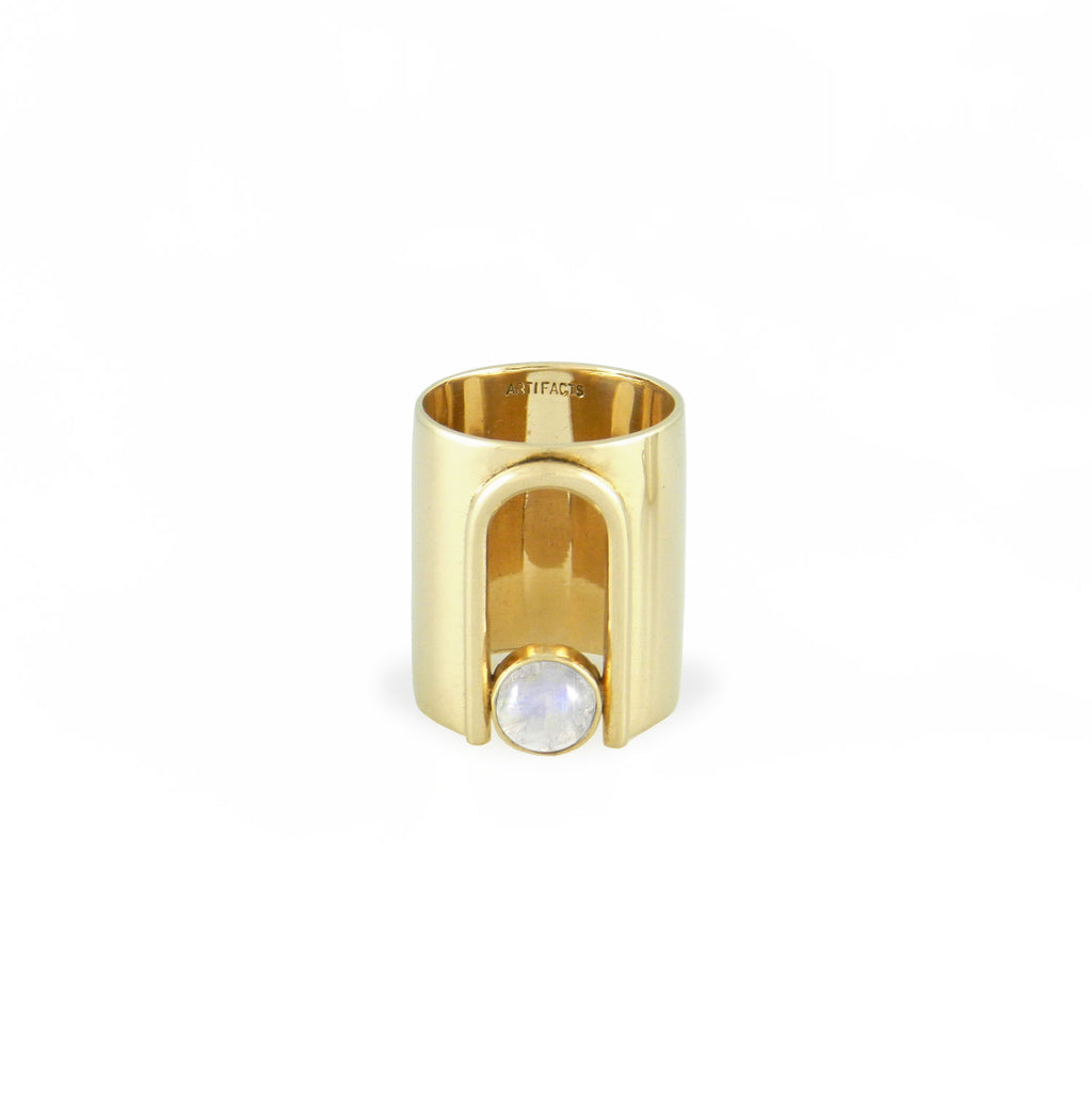 Archway Ring Brass + Mother of Pearl