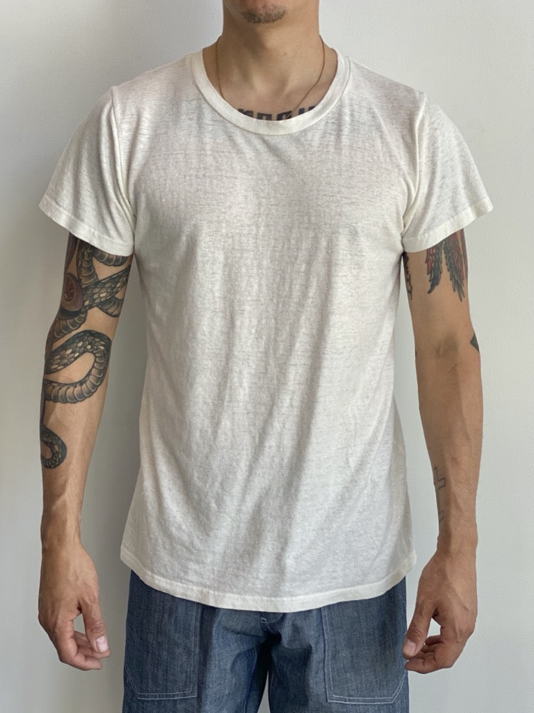 Unisex Lorel Tee Washed White