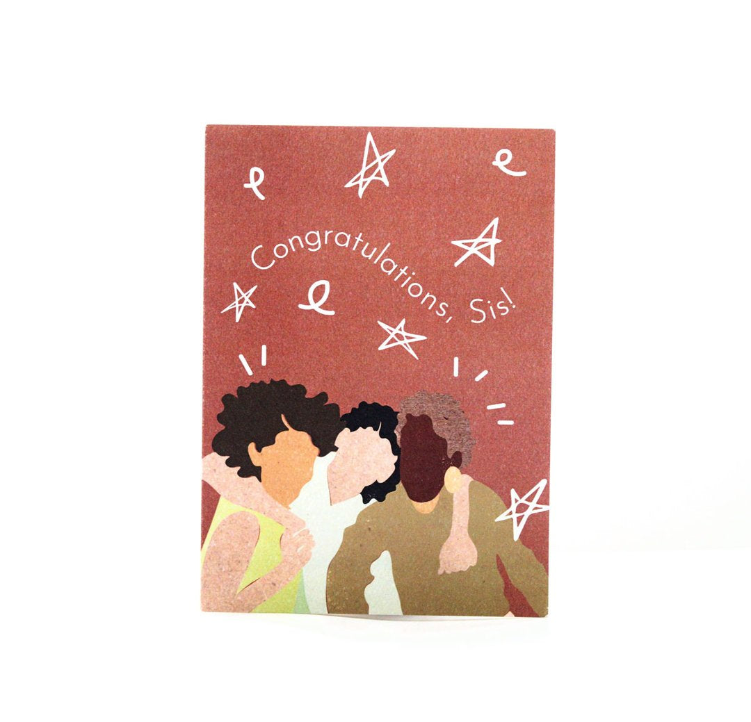 Aya Paper Co Congratulations Sis Greeting Card