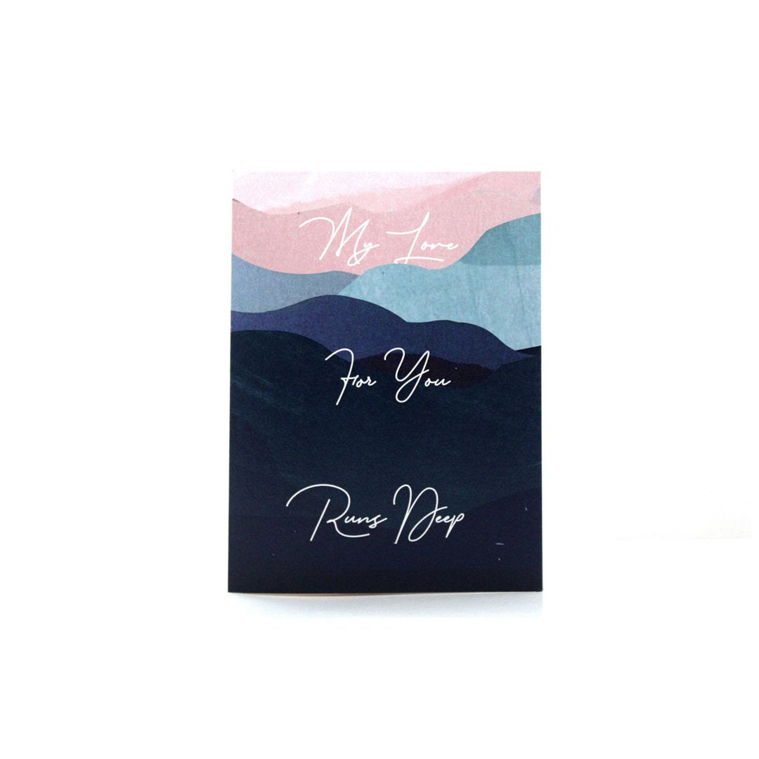 Aya Paper Co Love Runs Deep Greeting Card