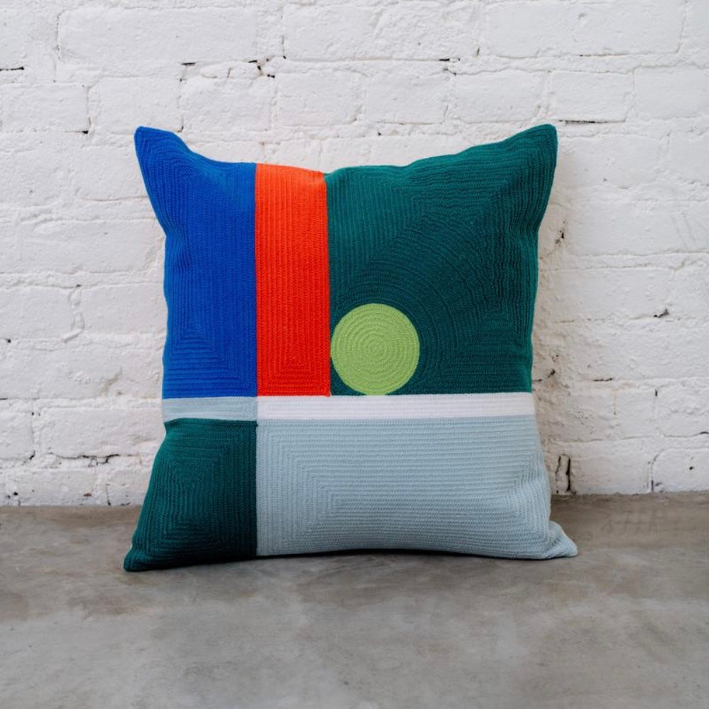 Dot Embroidered Pillow
