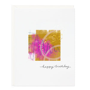 Ramona and Ruth Happy Birthday Color Burst Greeting Card
