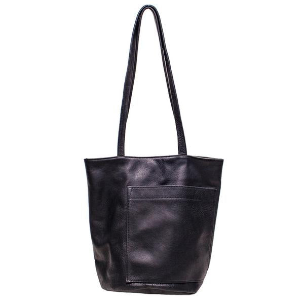Erin Templeton Bucket Bag Black Leather