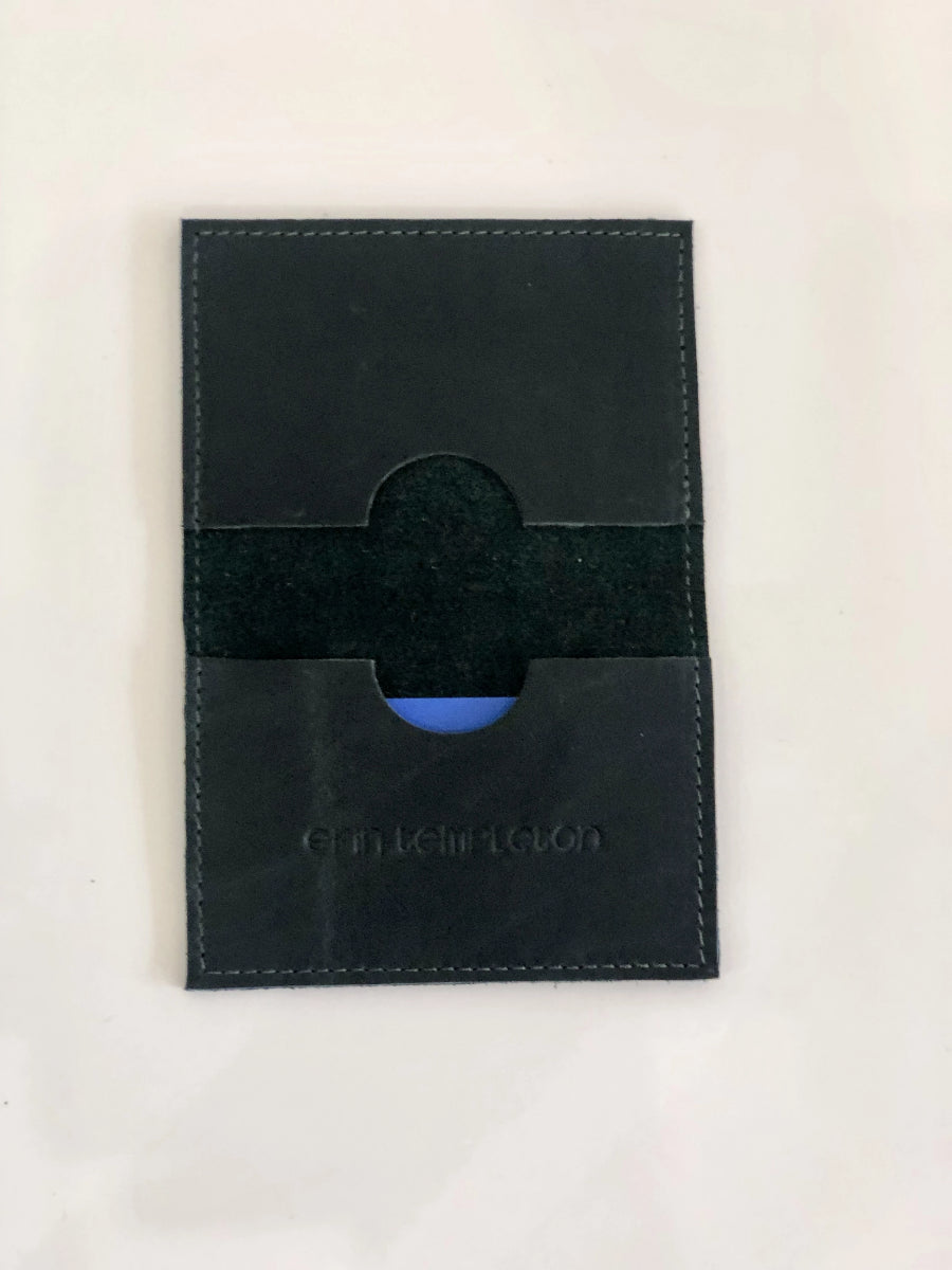 Erin Templeton Forest Green Leather Card Case Wallet Bi Fold