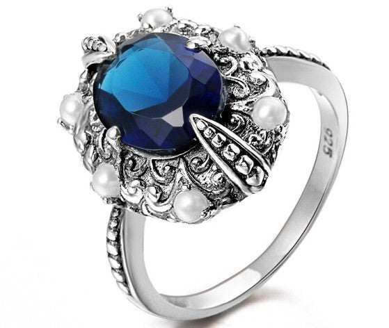 Sapphire Silver Rings for Women