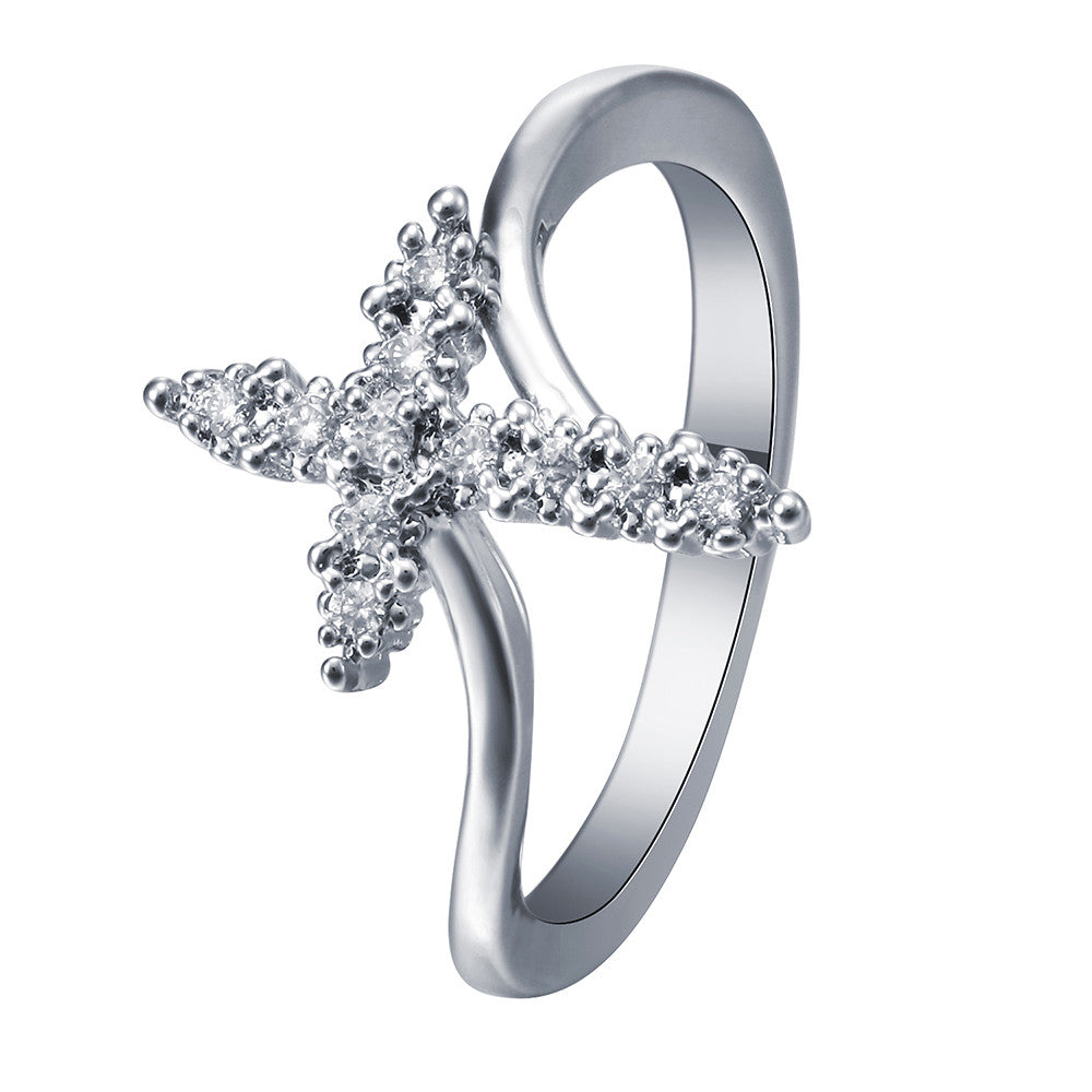 silver plated Cross promise Rings God so loved the world