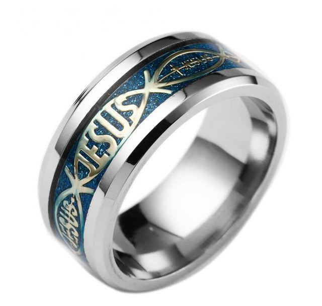 Hight Quality New Jesus Rings Stainless Steel