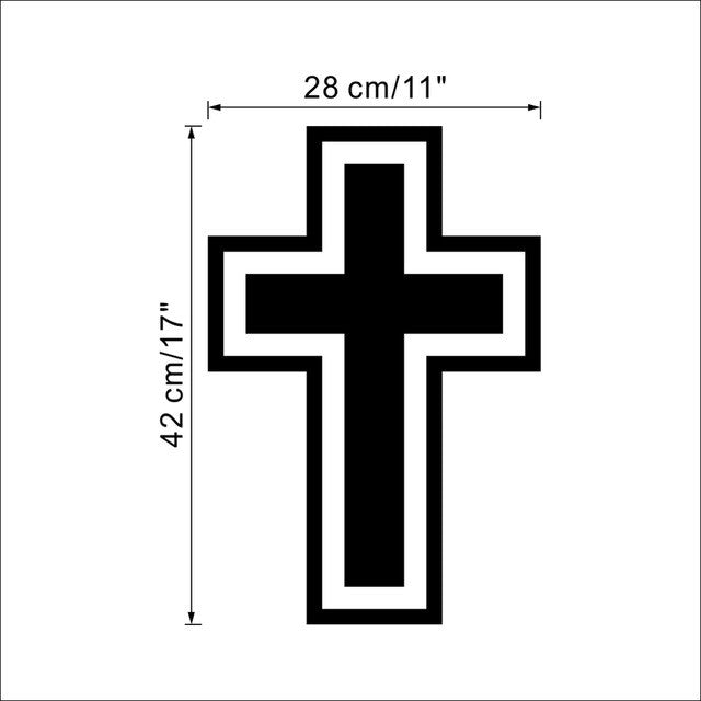 new fashion CROSS Christian Vinyl Wall Room Decal