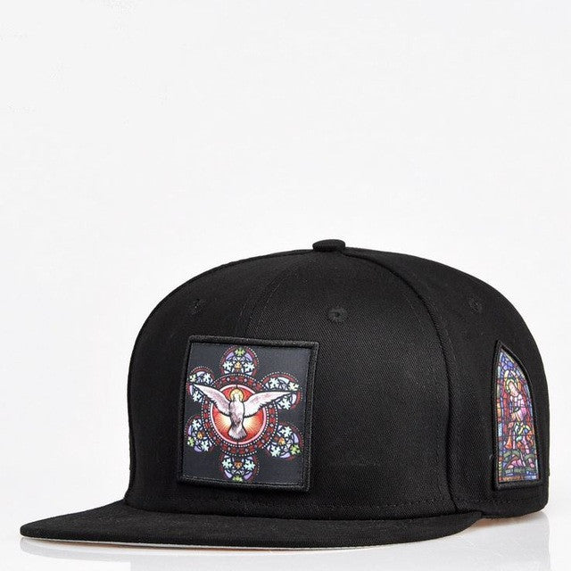 Christianity Angel Church Embroidery 2 Colors Snapback cap