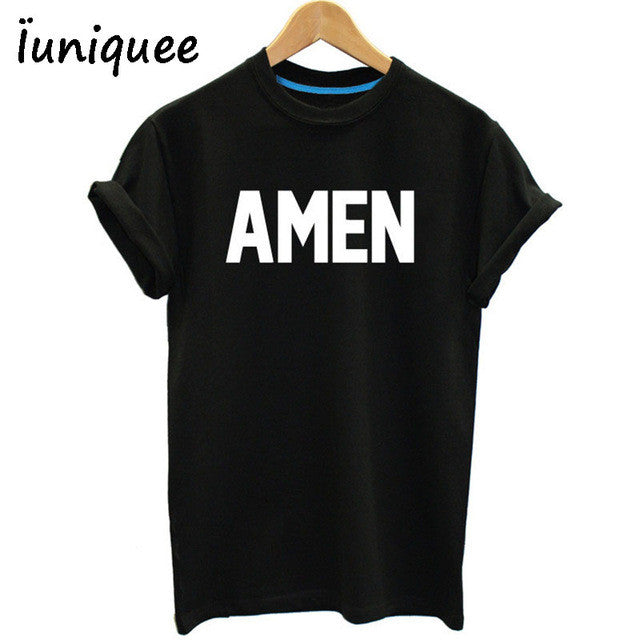 Unisex Men/Women Jesus t shirt Christian AMEN tees
